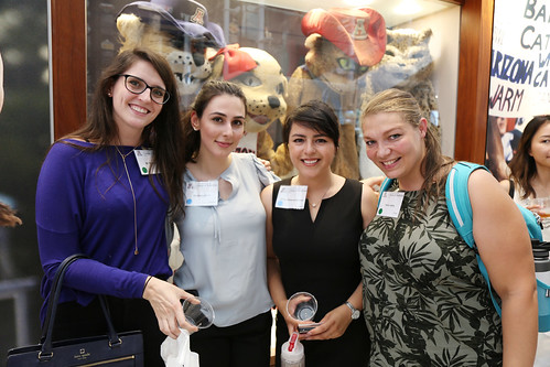 The college's newest medical students mingled with faculty and staff on Monday, July 23 at an event held at the UA Hall of Champions.