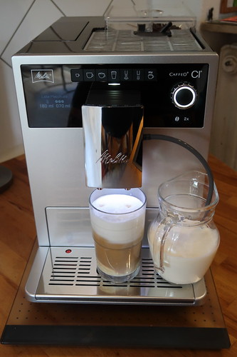 Erster Latte macchiato (noch mit Standardeinstellung)