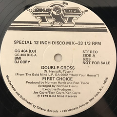FIRST CHOICE:DOUBLE CROSS(LABEL SIDE-A)