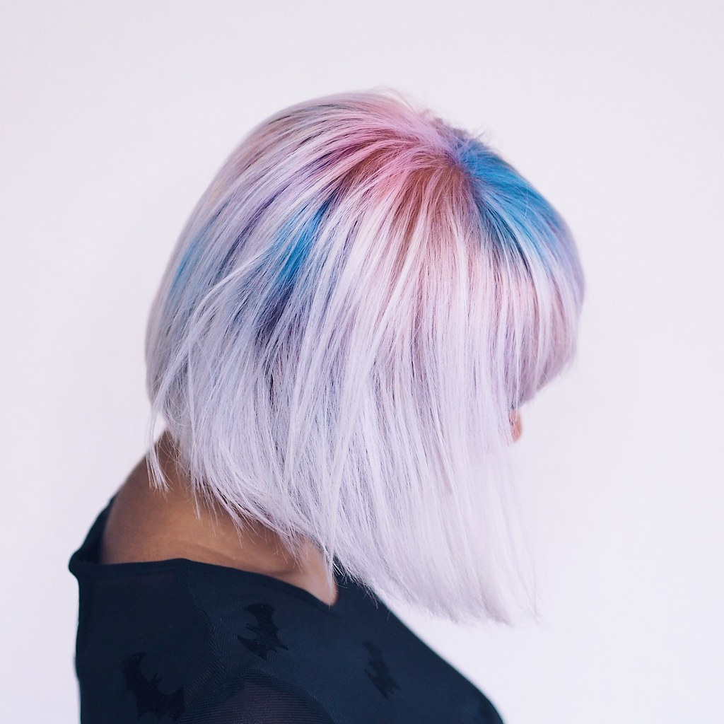 Reverse Ombre Mermaid Shadow Roots Blonde Ends Bob Cut Indian Hair