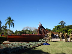 Maryborough. Australian Prime Minister Malcolm Turnbull opening the Gallipoli to Armistice memorial trail 21 July 2018.  It is the story of first to land at Gallipoli Lieutenant  Chapman of Maryborugh and other local men