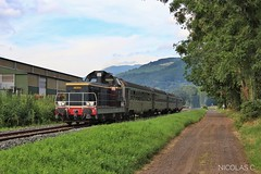 BB66304 + Voiture DEV Inox - V120 - Train n°804069 Le Lioran > St-Jory