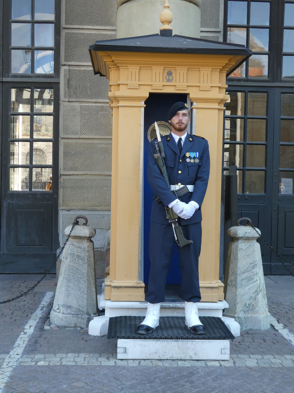 Guard at Stockholm Royal Palace