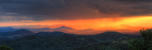 sunset rain storm clouds blue ridge parkway north carolina doughton park