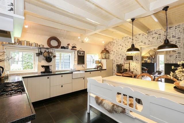 Landelijke keuken woonboerderij