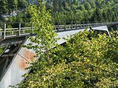 MUO470 Old Stossbahn Funicular Railway Bridge (disused) over the Muota River, Schwyz, Canton of Schwyz, Switzerland