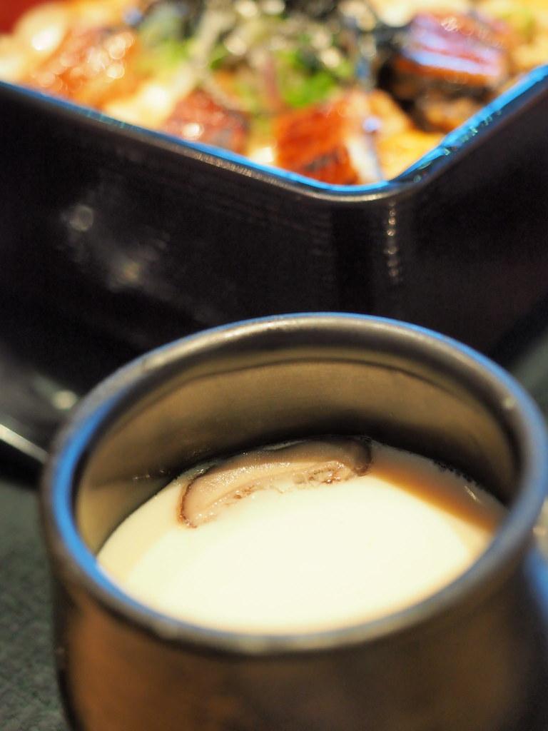 Rakuzen Japanese Restaurant's chawanmushi from the set dinner