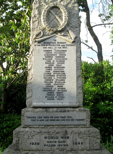 Buchlyvie War Memorial Closer View