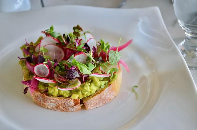 plate petal avo toast