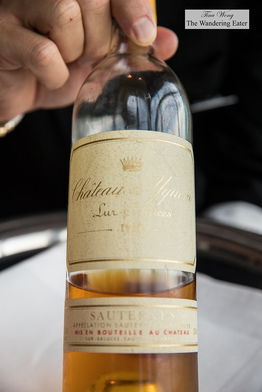 1988 Chateau d'Yquem Sauternes, 1er Grand Cru Superieur to pair with my seared foie gras