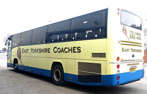 A9 EYC 'East Yorkshire Motor Services' No. 72 'East Yorkshire Coaches'. Volvo B12B / Plaxton Panther /2 on Dennis Basford's railsroadsrunways.blogspot.co.uk'