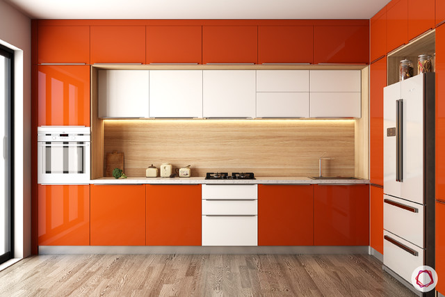 ornage color cabinet
