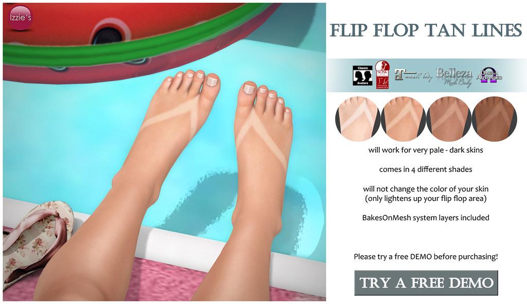 Flip Flop Tan Lines for FLF - TeleportHub.com Live!