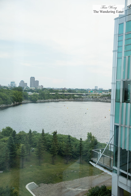 The view of Lac Leamy on my right