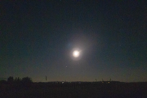 Moon and Mars over Skagit Valley