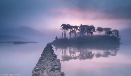 connemara ireland co galway mist early morning