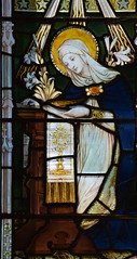 Blessed Virgin at the Annunciation (Powell & Sons, 1910)