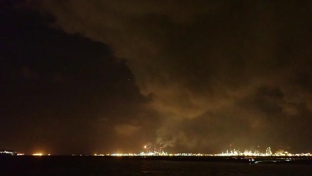 Emissions over Pulau Bukom from Cyrene