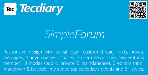 Simple Forum v1.3.7 – Responsive Bulletin Board