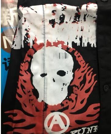 Oo吉兒oO龐克搖滾重金屬樂團~惡魔真神門徒學院風接袖襯衫 付領帶白【JGGA217W】 PUNK ROCK