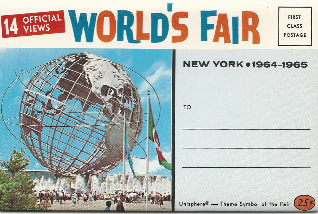 Postcard pack issued for the 1964-1965 New York World's Fair
