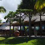 Awali resort - restaurant and bar area by the beach
