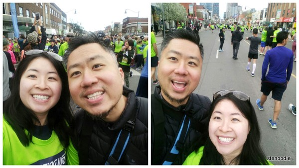 selfies before the start line