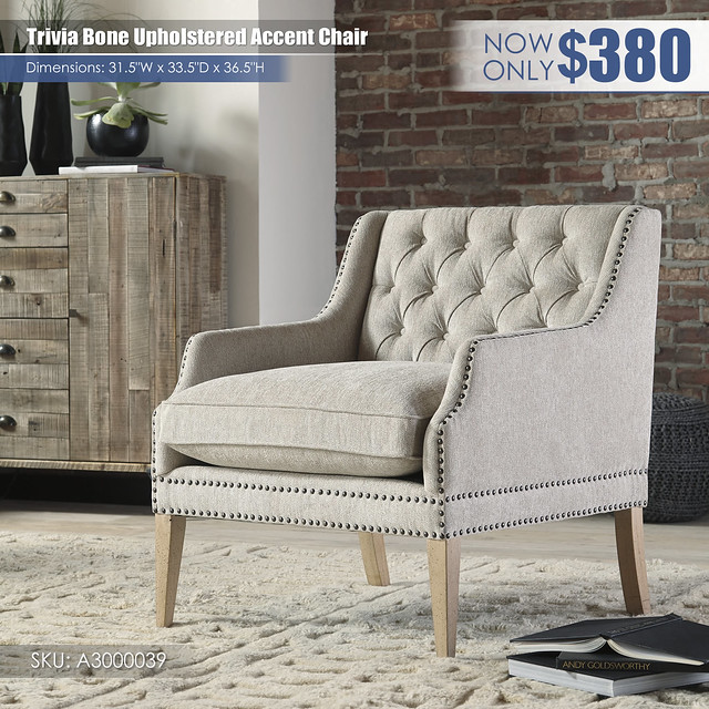 Trivia Bone Accent Chair_A3000039