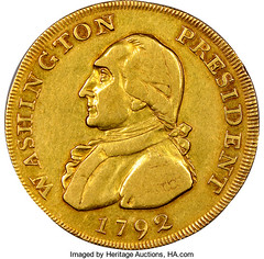1792 Washington Gold Eagle Pattern obverse