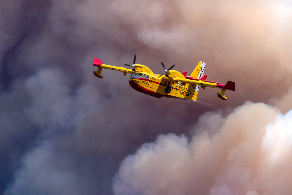 Day 6: Canadair after a water drop
