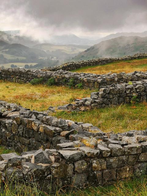 Drifting Rain, Roman Fort, Hard Knott Pass, Lake District
