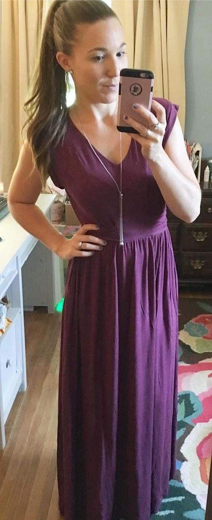 mjc womens purple maxi dress