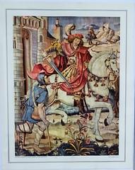 Nielles-lès-Bléquin Eglise Saint Martin  Poster à effigie du saint patron de l'église