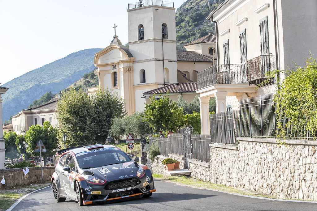 02 Alexey Lukyanuk (RUS), Alexey Arnautov (RUS), Russia Performance Motorsport, FORD FIESTA R5, during the 2018 European Rally Championship ERC Rally di Roma Capitale,  from july 20 to 22 , at Fiuggi, Italia - Photo Gregory Lenormand / DPPI