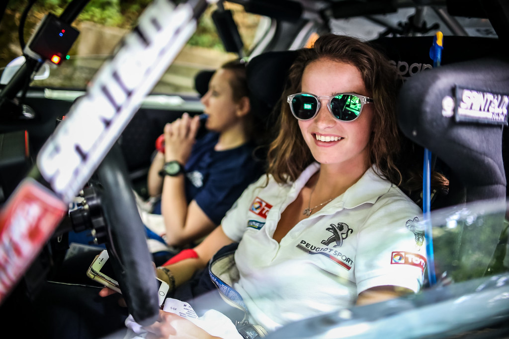 MUNNINGS Catie(gbr), STEIN Anne Katharina (deu), Peugeot 208, portrait during the 2018 European Rally Championship ERC Rally di Roma Capitale,  from july 20 to 22 , at Fiuggi, Italia - Photo Thomas Fenetre / DPPI