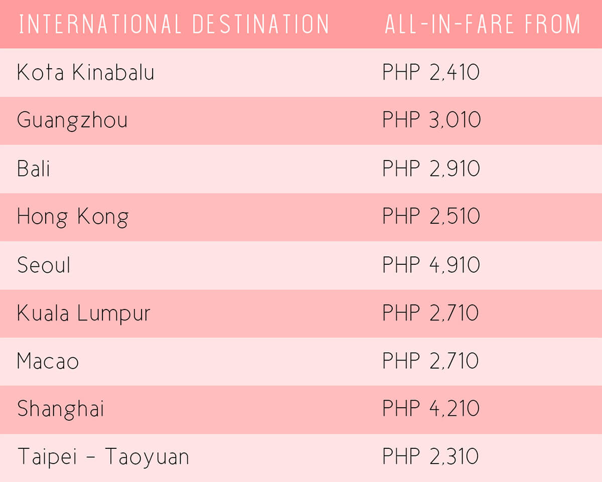 AirAsia Low Fare Promo - Fly from Manila (International flights)