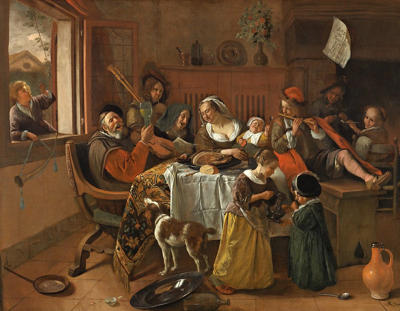 Jan Havicksz. Steen - Het vrolijke huisgezin (1668)