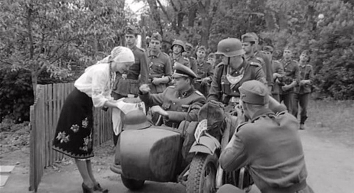 1941. Встреча немцев. Окрестности Харькова