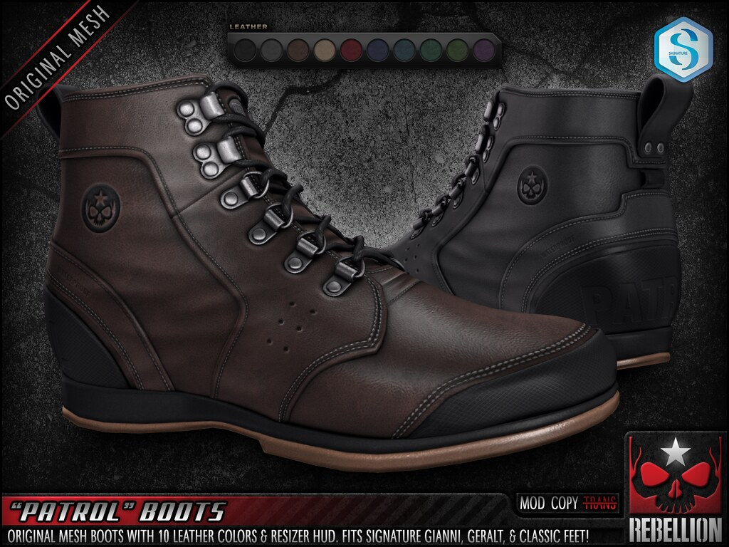 "= REBELLION = ""PATROL"" BOOTS"
