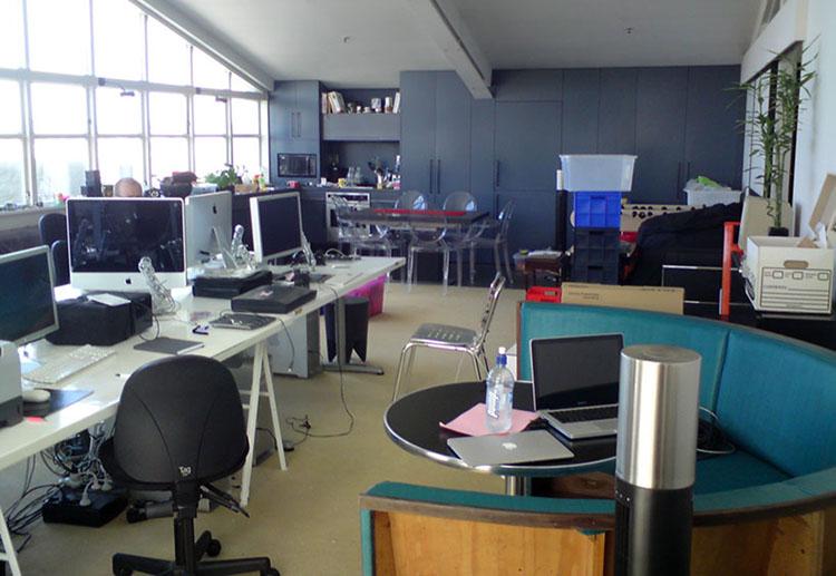 Das Büro meiner ersten Firma in Auckland: In einem Penthouse auf der K'Road