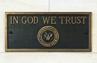 US Capitol In God We Trust plaque