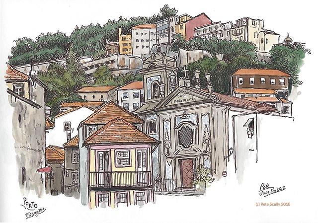 Miragaia hillside, Porto