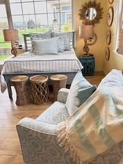 Gat creek bed from the Evelyn collection with Pine Cone Hill bedding!