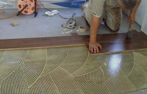 Glue down wood flooring