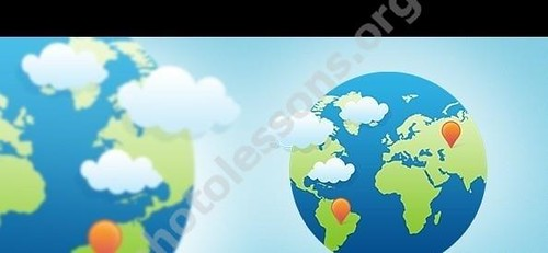 Globe for Photoshop in PSD format