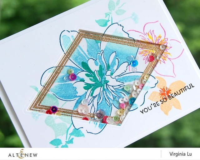 Altenew-FloralArt-GeoFrameStampDie-Virginia#2