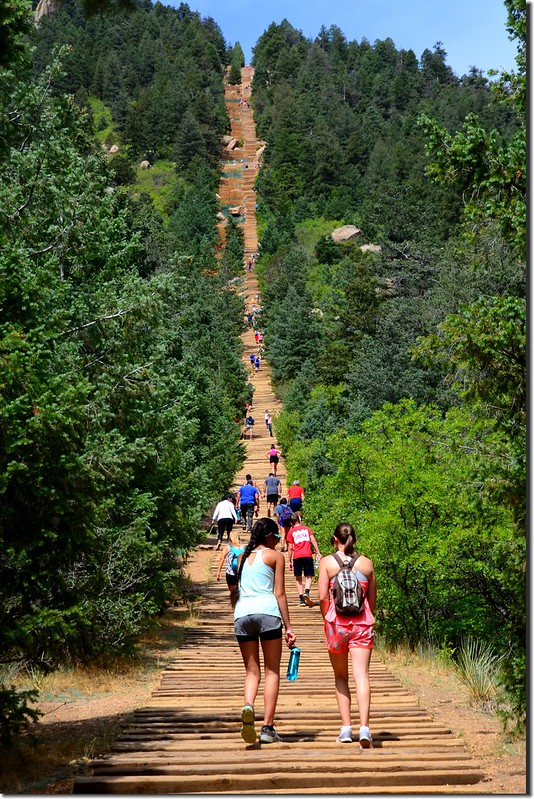 View of the Manitou Incline from the base