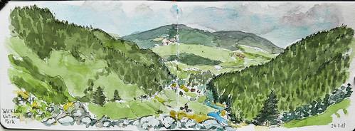 Glendalough view. Ireland