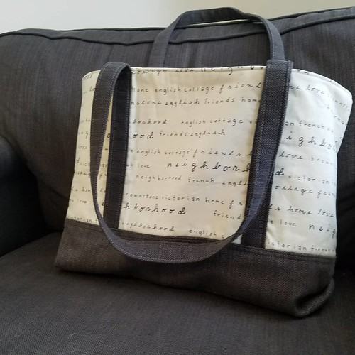 The Library Tote - My New Pattern