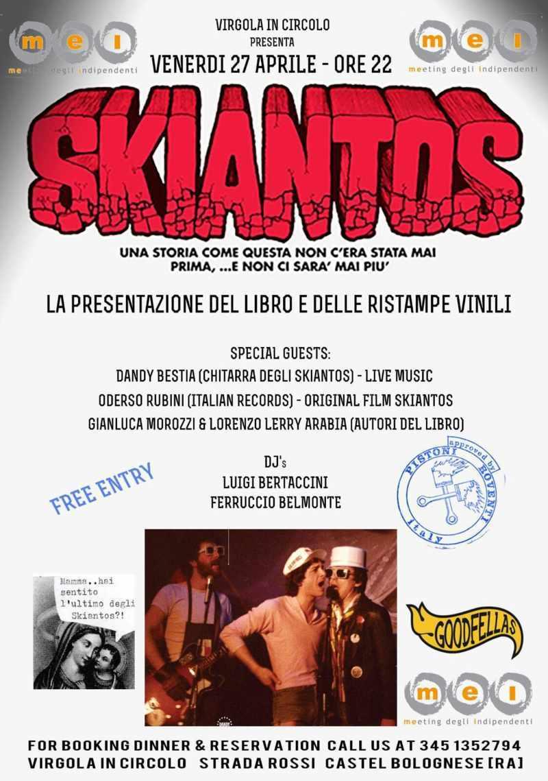 Al Circolo La Virgola venerdì 27 aprile presentazione del libro sulla storica band demenziale degli Skiantos